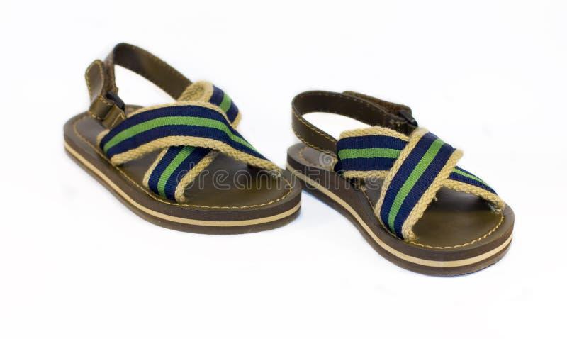 Barns sandaler royaltyfri fotografi