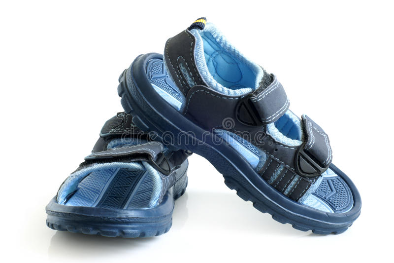 Barns sandals royaltyfri bild