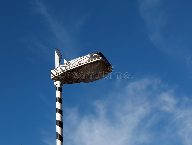 Barns streetlight. royaltyfri fotografi