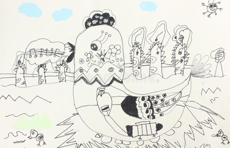barns teckningar vektor illustrationer