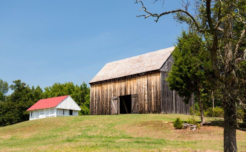 Barns at Thomas Stone house in Maryland royalty free stock photography