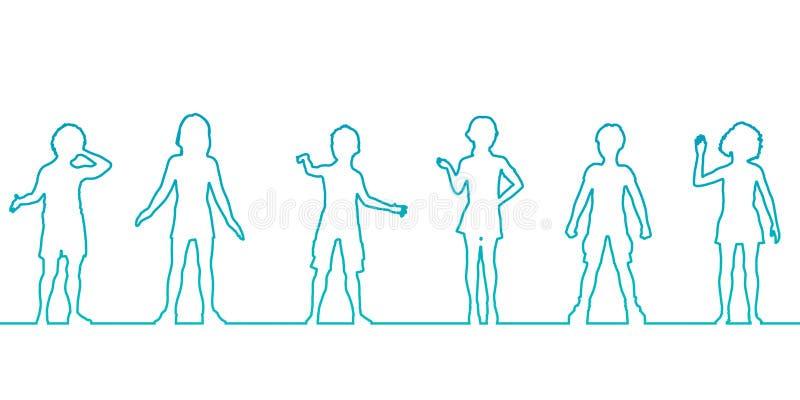 Barns utveckling vektor illustrationer