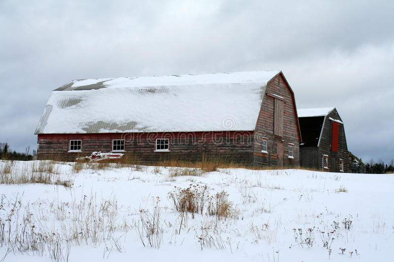 Download Barns In Winter Stock Photo - Image: 12124230