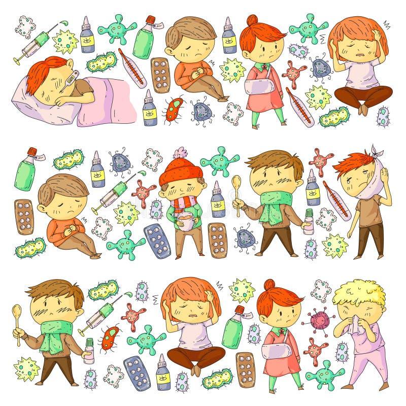 Feber i barn stock illustrationer. Illustration av högt ...