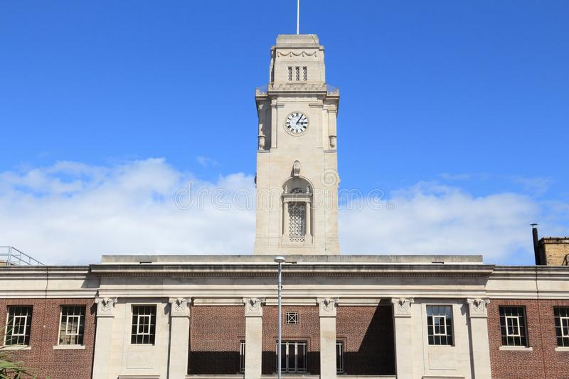 Barnsley Town Hall. Barnsley, town in South Yorkshire, England. Town hall building royalty free stock photo