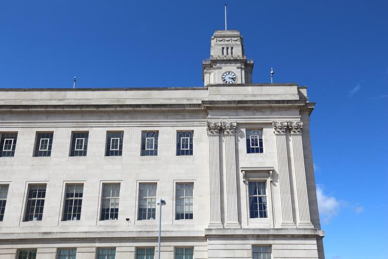 Barnsley UK. Barnsley City Hall - local landmark in Yorkshire region, England royalty free stock photography