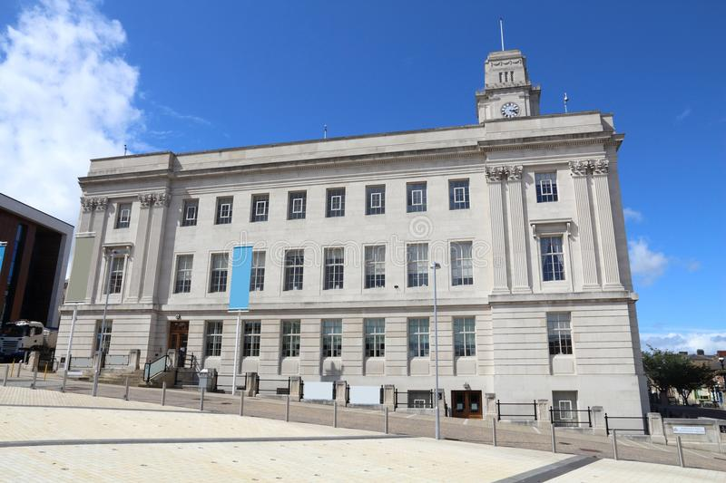 Barnsley UK. Barnsley, town in South Yorkshire, UK. Town hall building royalty free stock photo