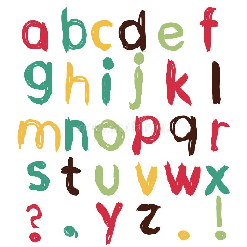 barnsligt roligt för alfabet royaltyfri illustrationer