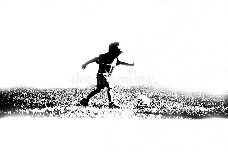 barnspelarefotboll royaltyfria bilder
