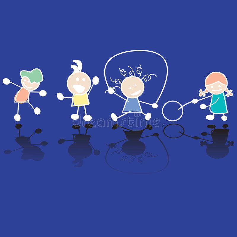 barnspelrum stock illustrationer