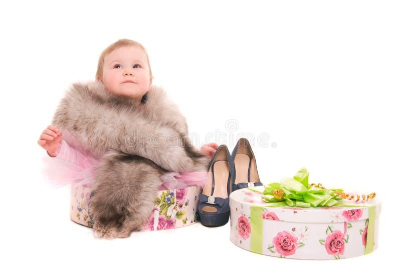 Barnspelrum med smycken royaltyfri foto