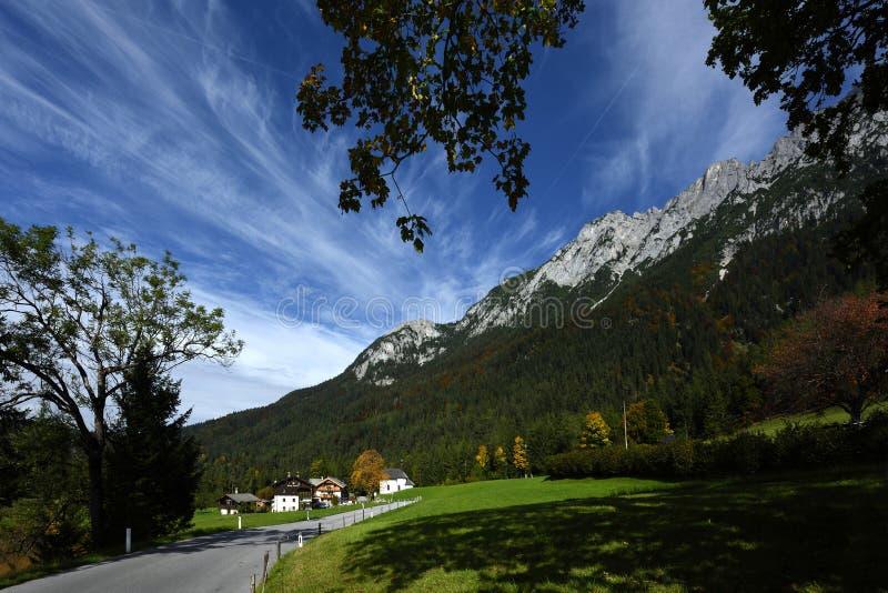 Barnstatt, Wilder Kaiser, Tirol, Austria. Alpine scenery under Schefauer peak in Wilder Kaiser mountains in Tirol - Austria royalty free stock photography