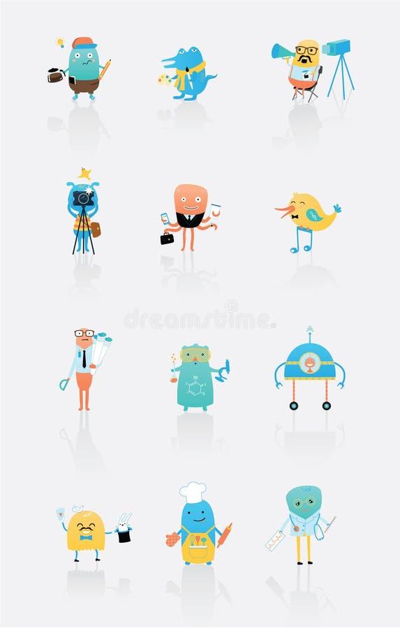 Barntecken - yrken stock illustrationer