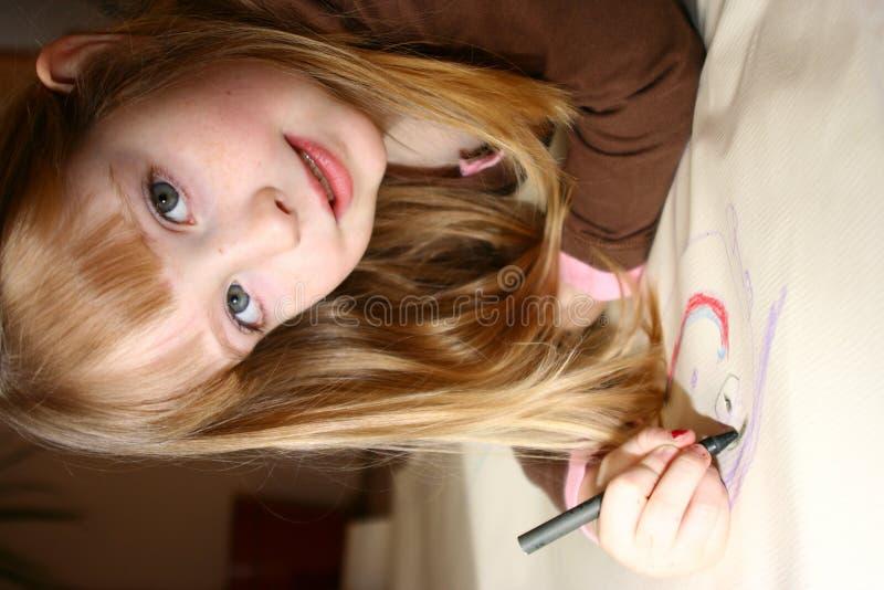 barnteckning royaltyfri bild