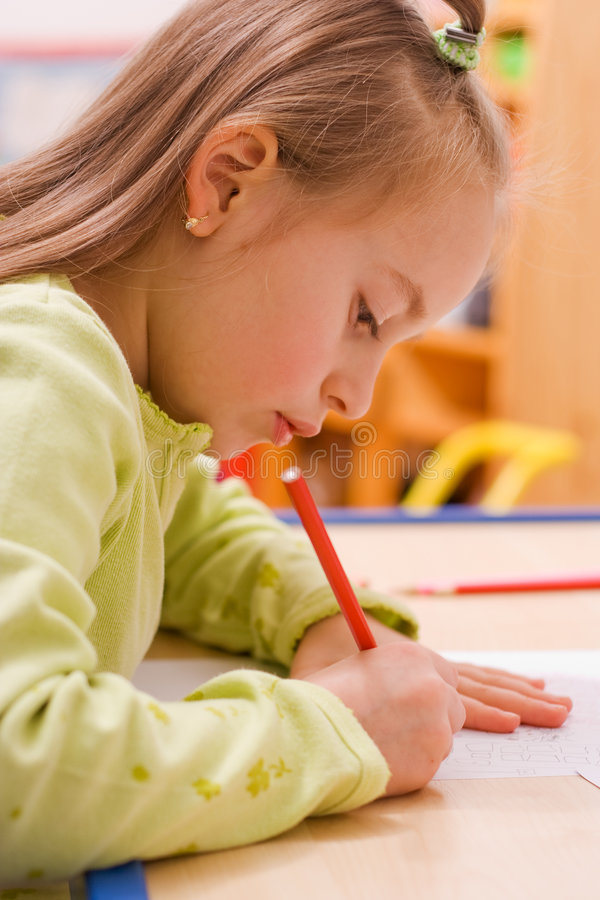 barnteckning royaltyfria bilder