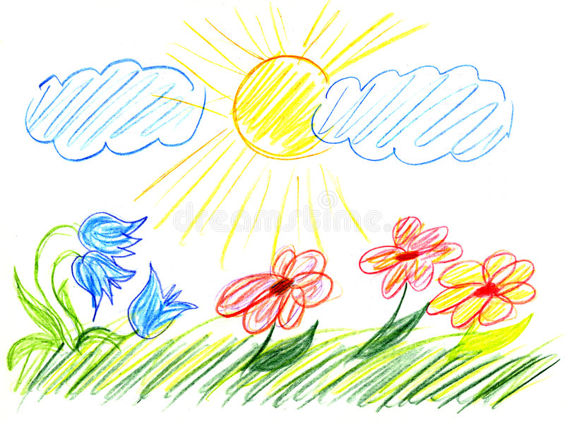 barnteckning s vektor illustrationer