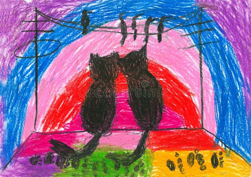 barnteckningar s royaltyfri fotografi