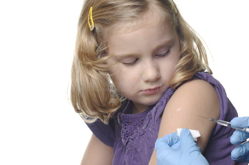 barnvaccinations royaltyfri foto