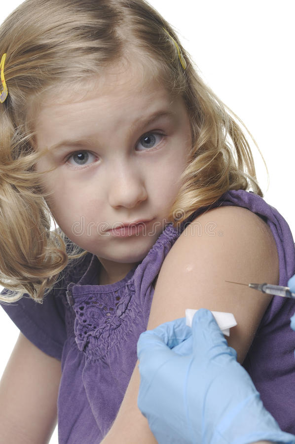 barnvaccinations arkivfoton