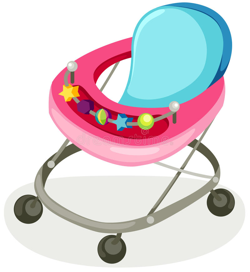 barnvagn vektor illustrationer