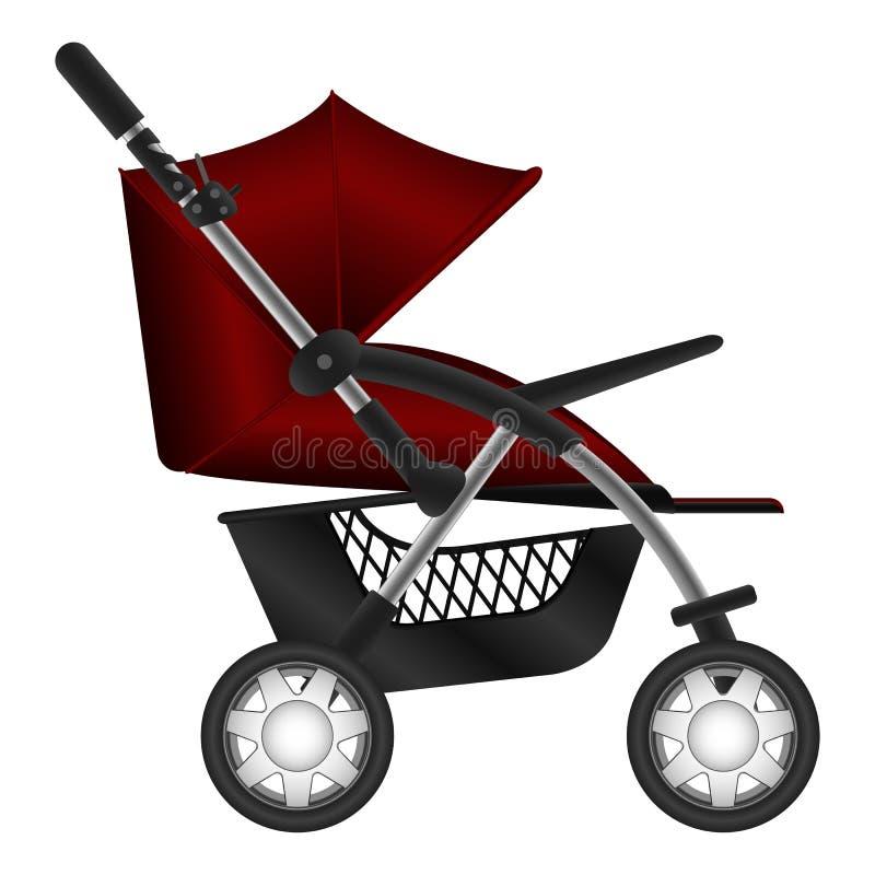 barnvagn royaltyfri illustrationer