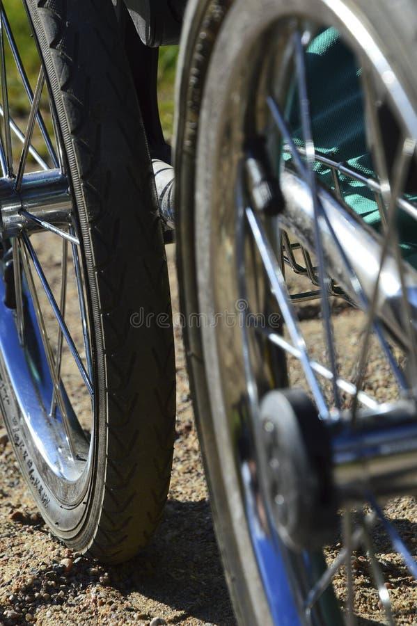 Barnvagnhjul royaltyfri foto