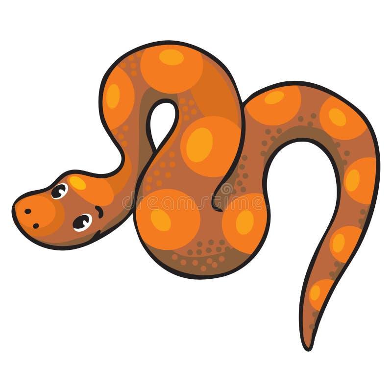 Barnvektorillustration av ormen vektor illustrationer