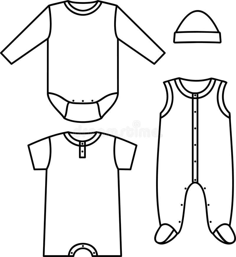 barnwear vektor illustrationer