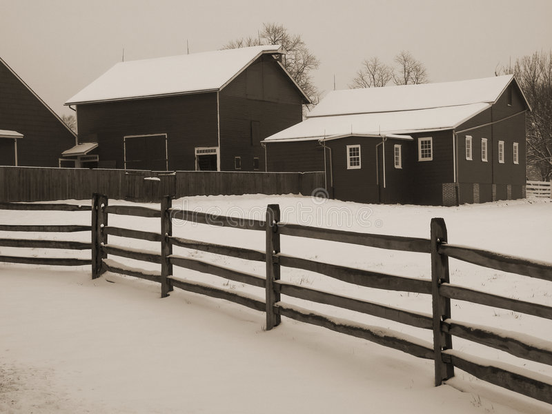 barnyard śnieg obraz royalty free