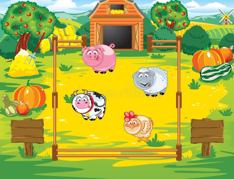 Barnyard ilustração do vetor