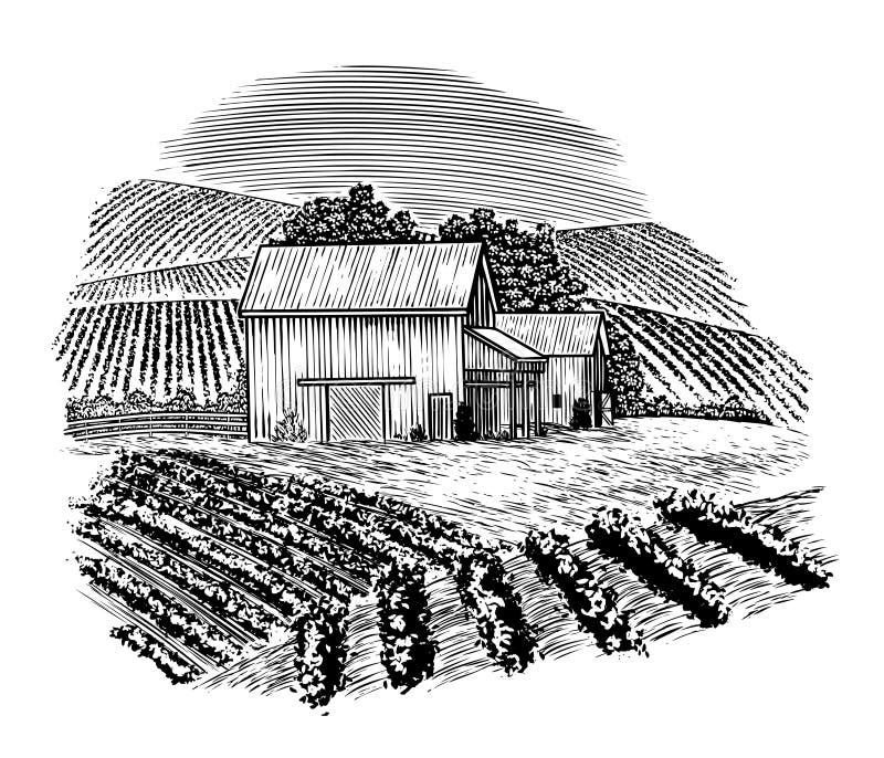 Barnyard de época de madera libre illustration