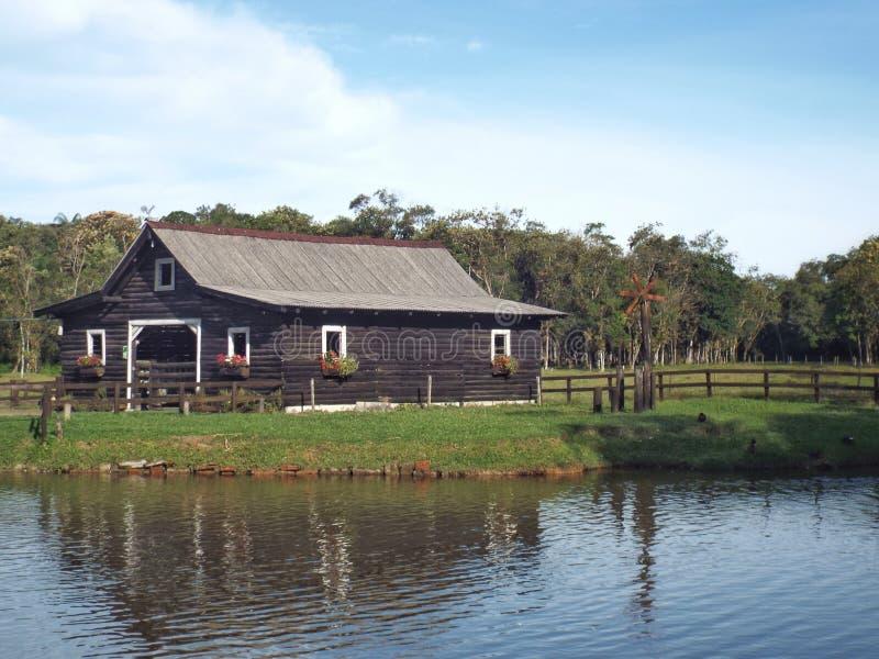 Barnyard jeziorem zdjęcie stock