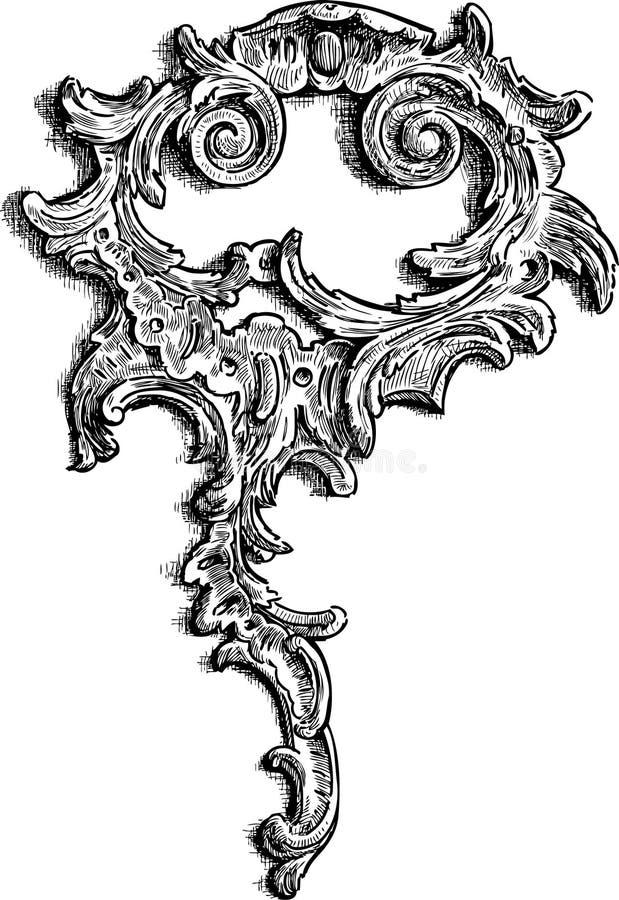 Barock beståndsdel stock illustrationer