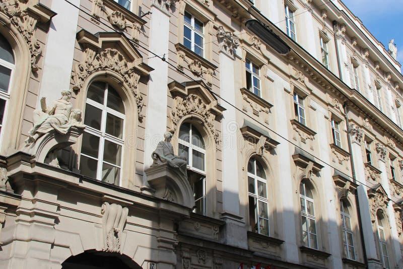 Barock byggnad - Wien - Österrike arkivbilder