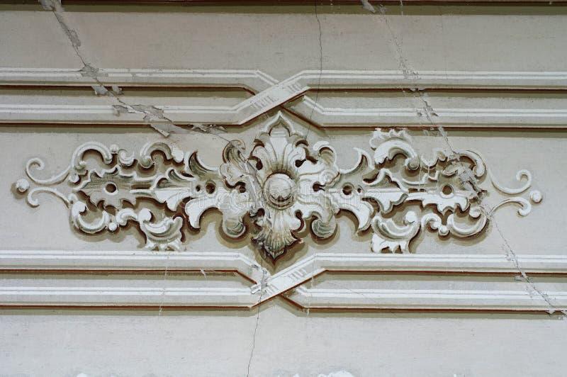 Barock detaljvägg för prydnad royaltyfria bilder
