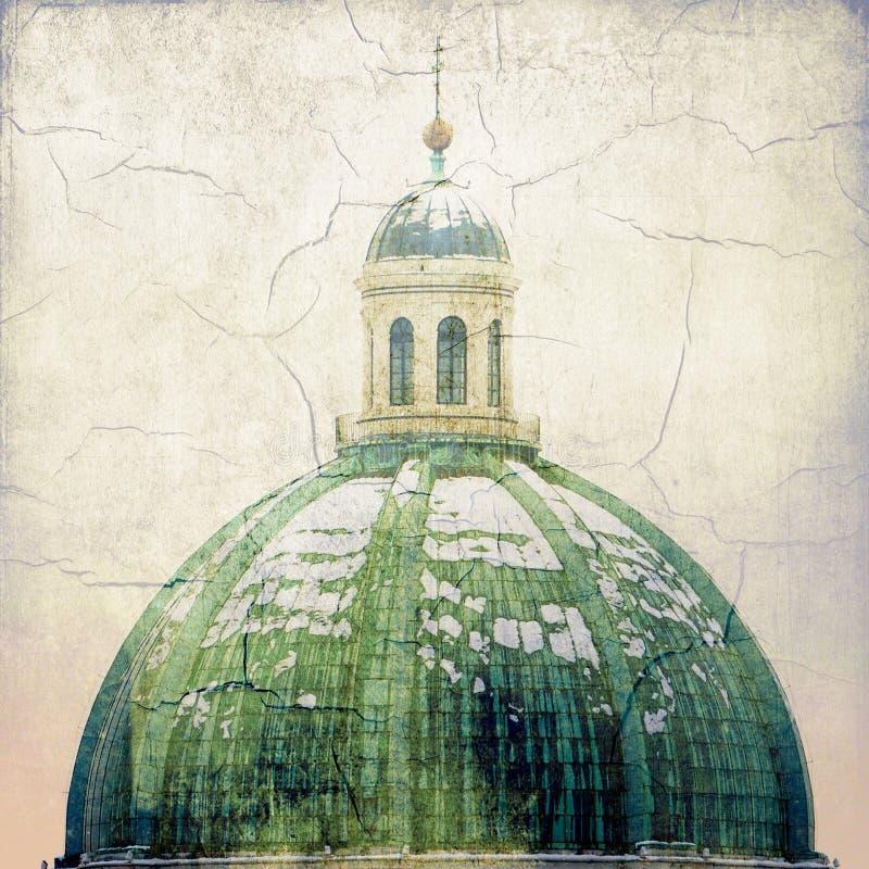 barock domkyrka Detalj av kupolen Brescia - Italien Kallade den nya domkyrkan 17th århundrade royaltyfri fotografi