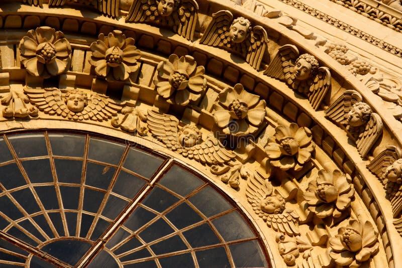 barock garneringitaly lecce royaltyfri bild