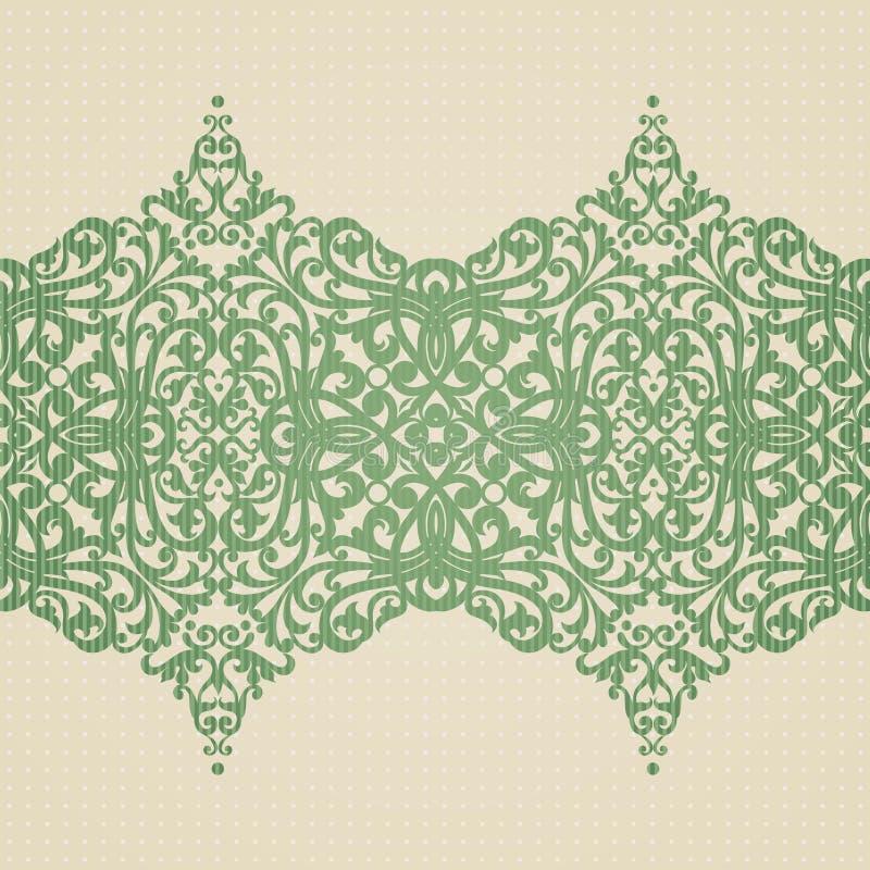 Barock gräns för vektor i viktoriansk stil. royaltyfri illustrationer