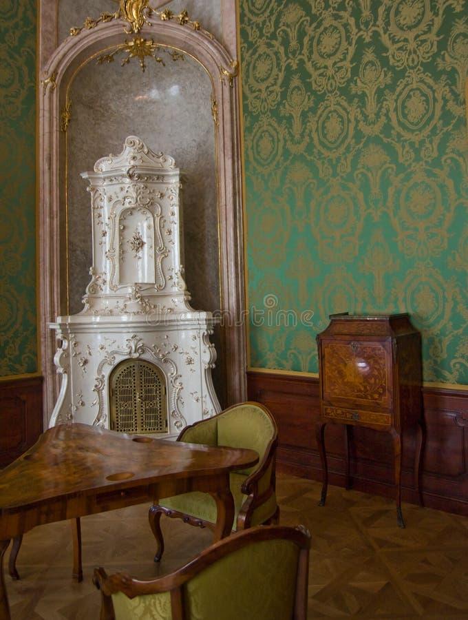 barock klassisk interior fotografering för bildbyråer