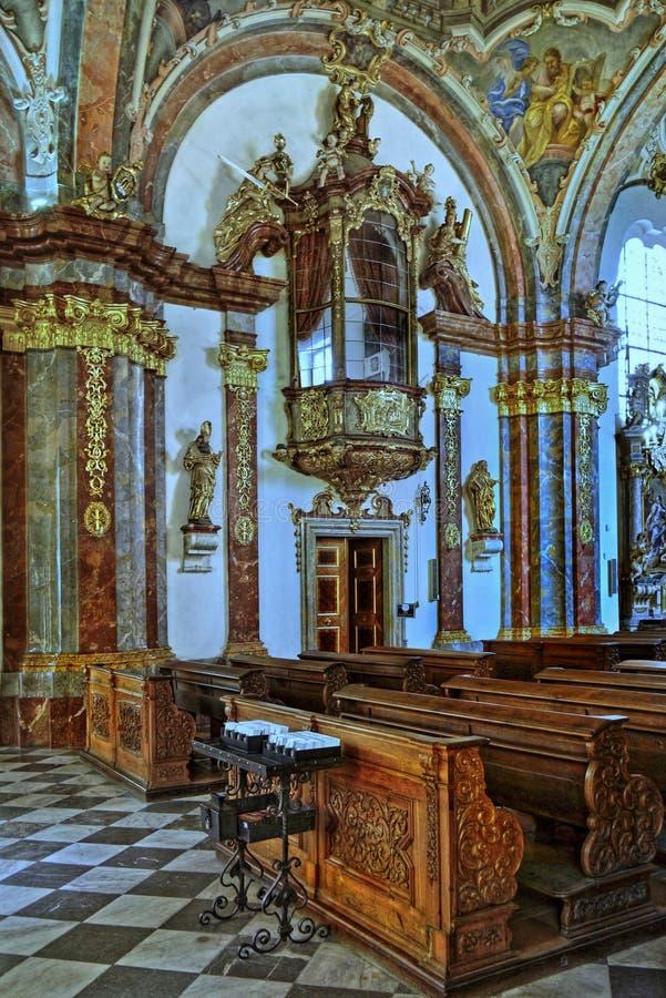 Barock kyrkliga Prague, Tjeckien royaltyfria bilder