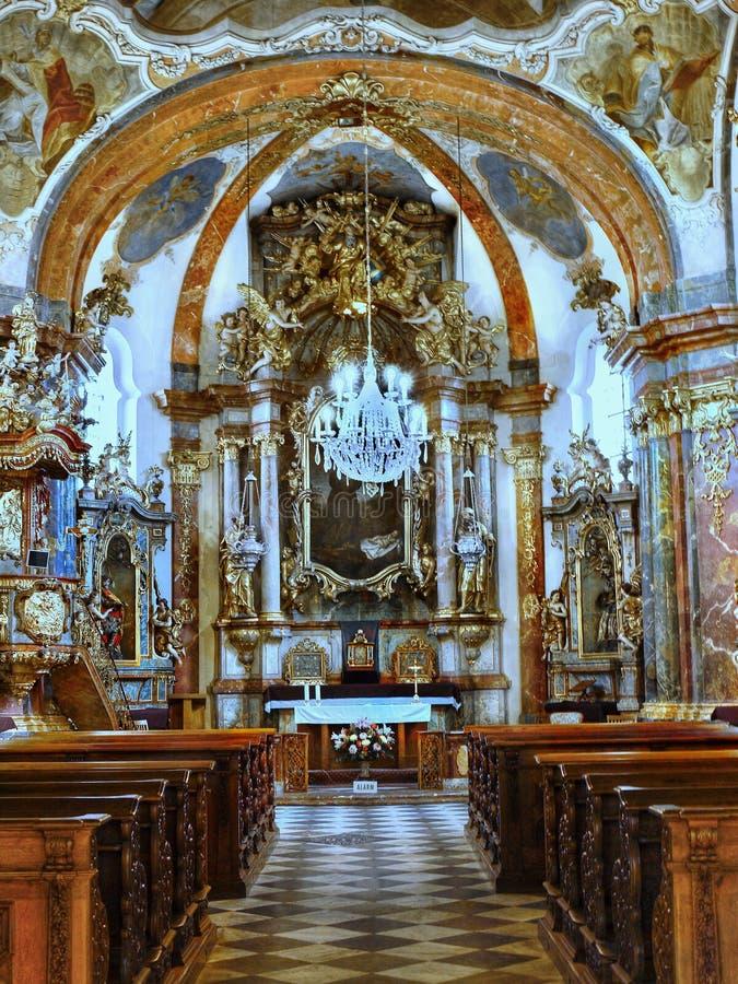 Barock kyrkliga Prague, Tjeckien royaltyfria foton
