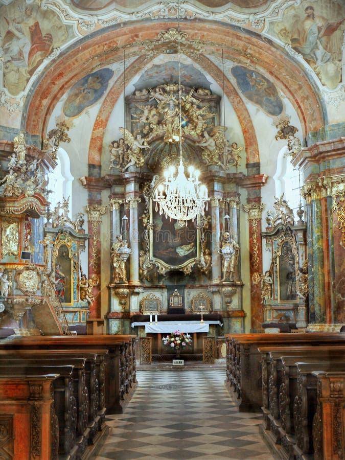 Barock kyrkliga Prague, Tjeckien royaltyfri fotografi