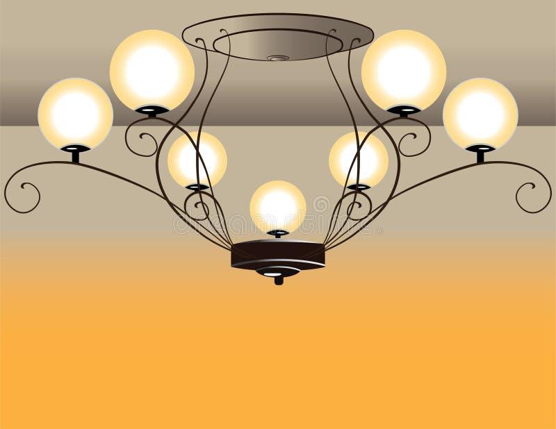 Barock ljuskrona vektor illustrationer