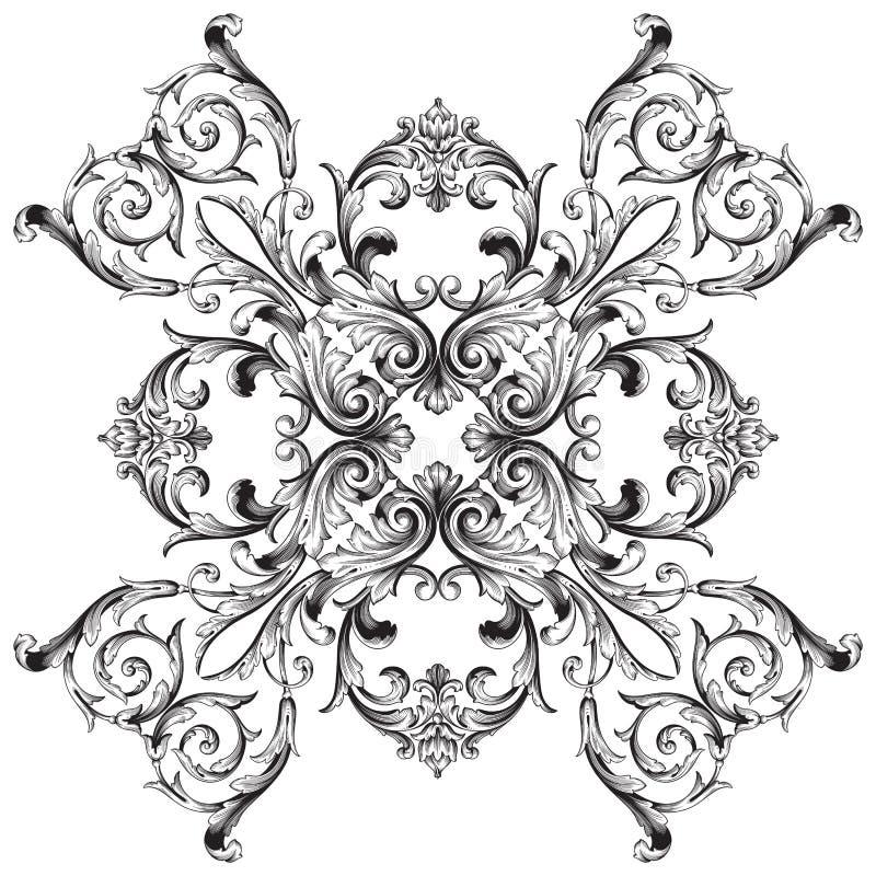 Barock prydnad för vektor i viktoriansk stil royaltyfri illustrationer