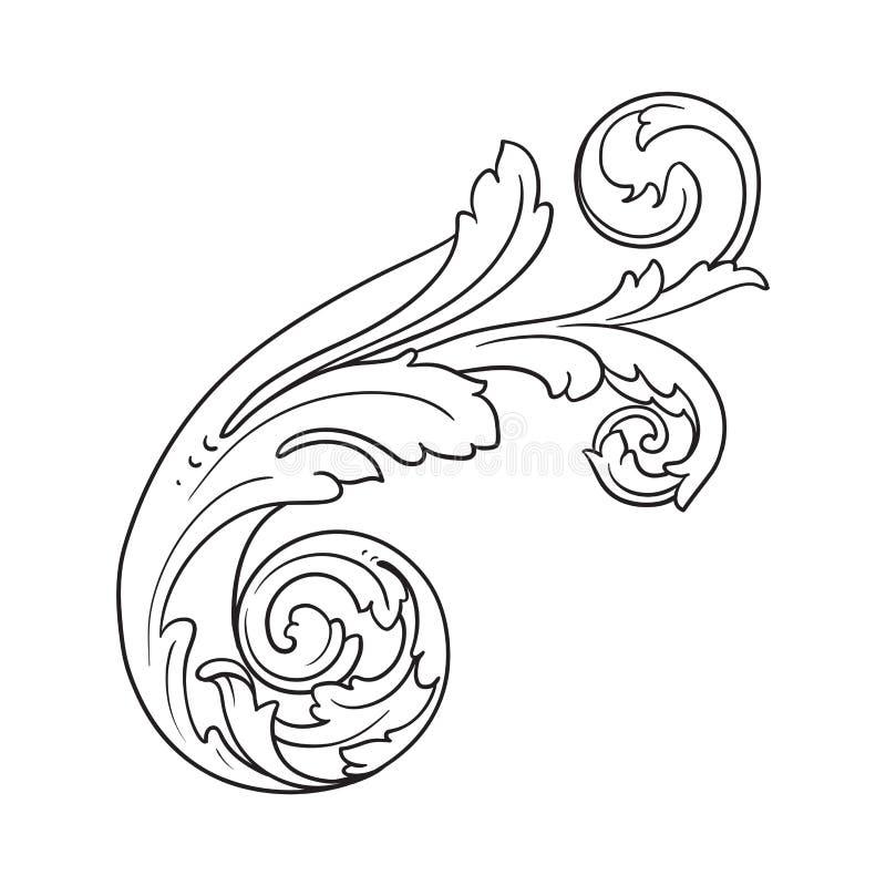 Barock prydnad för vektor i viktoriansk stil vektor illustrationer