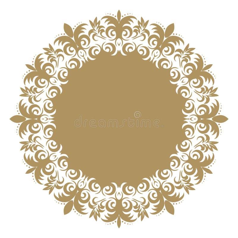 Barock prydnad för vektor i viktoriansk stil Utsmyckad beståndsdel för D vektor illustrationer