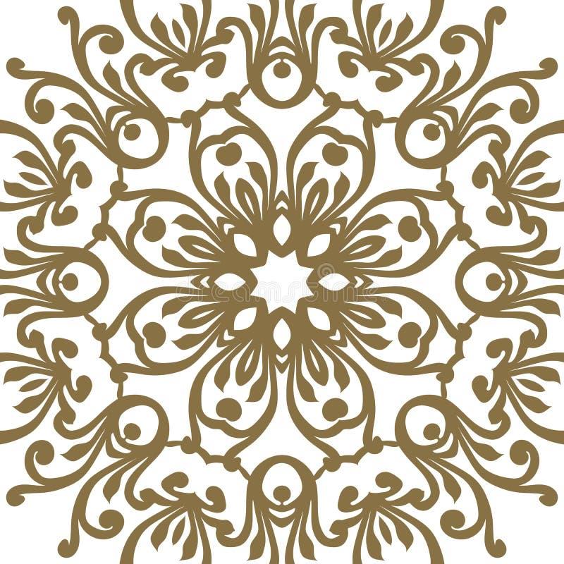 Barock prydnad för vektor i viktoriansk stil Utsmyckad beståndsdel för D royaltyfri illustrationer
