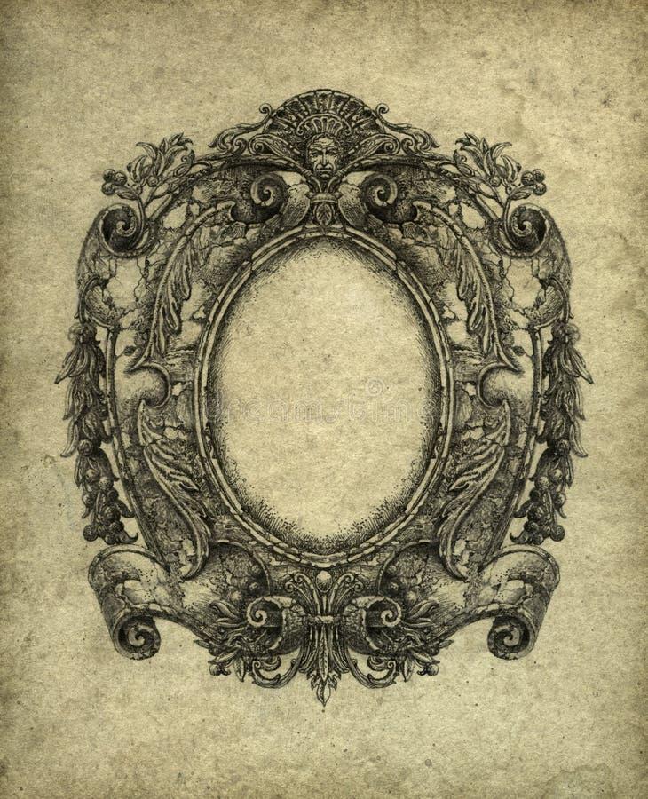 barock ram royaltyfri illustrationer