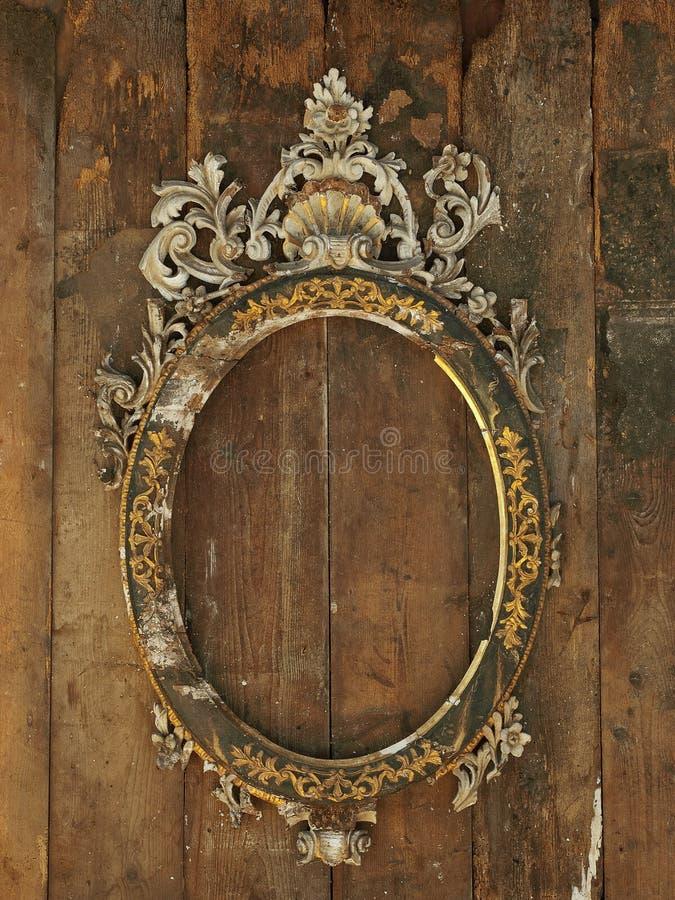 barock ramgilt royaltyfri bild
