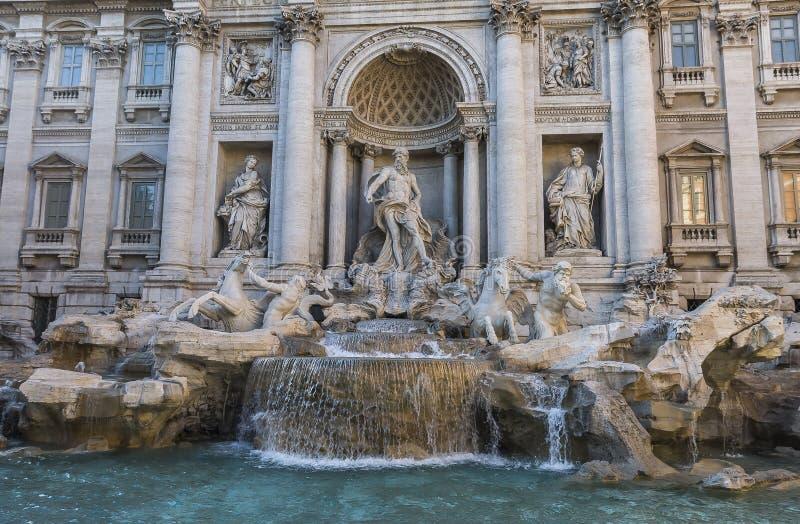 barock rome för springbrunnitaly mästerverk trevi arkivbilder